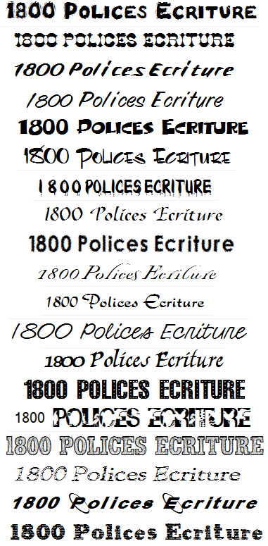 1800 polices caracters